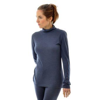 Wolle Seide Unterwäsche nachtblau von Alkena