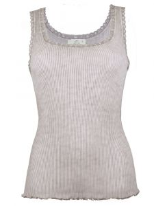Unterhemd Bio Baumwolle Pure S/L taupe von Madiva Eco Future