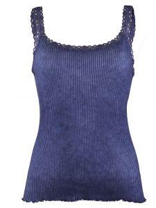 Träger-Top Bio Baumwolle Pure S/S jeansblau von Madiva Eco Future