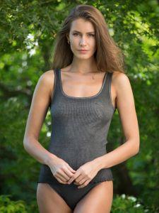 Unterhemd Bio Baumwolle Aria S/L dunkelgrau von Madiva Eco Future