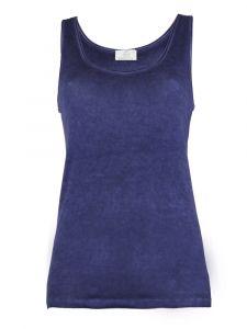 Unterhemd Bio Baumwolle Fresh S/L dunkelblau von Madiva Eco Future