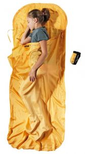 Premium Kinder Seidenschlafsack 100% Seide sunset gelb orange von Cocoon®