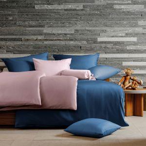 Hefel Lyocell Bettwäsche Colours Uni rosa und blau