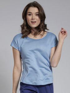 Seidenshirt Cinda T-Shirt Seide Leinen in hellblau von Kokon Zwo