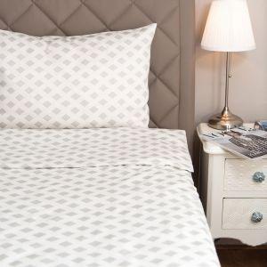 Bettwäsche aus Lyocell Classic Salzburg silber  von HEFEL