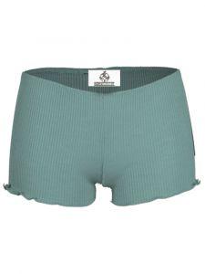 Wolle-Seide Slip Breeze Shorts schilfgrün von Madiva Eco Future