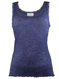 Unterhemd Bio Baumwolle Pure S/L dunkelblau von Madiva Eco Future
