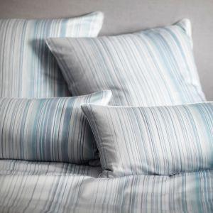 Bio-Baumwolle Bettwäsche Grades Streifen bleu-grau gestreift