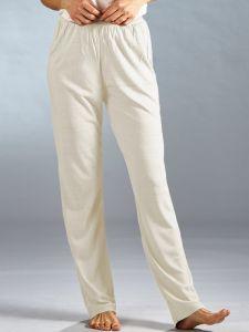 Bouretteseide Yogahose in naturweiß von Kokon Zwo - das T-Shirt ist nicht im Lieferumfang enthalten!