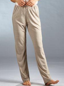 Bouretteseide Yogahose in beige von Kokon Zwo - das T-Shirt ist nicht im Lieferumfang enthalten!