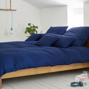 Halbleinen Bettwäsche Pop von Elegante dunkelblau gestreift