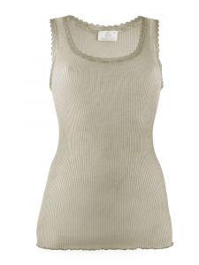 Wolle-Seide Unterhemd Breeze S/L taupe von Madiva Eco Future