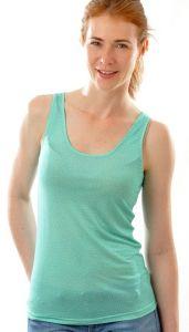 100% Bio Seide Unterhemd minze-grün von Alkena