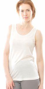 Alkena Unterhemd Wolle Seide naturweiß